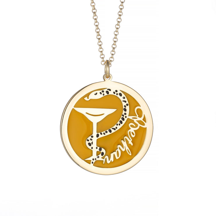 DUNALI™ Personalized Beautiful Snake Necklace/Pendent in Gold