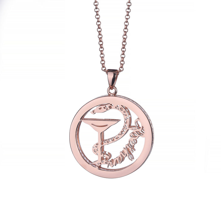 DUNALI™ Personalized Beautiful Snake Necklace/Pendent in Rose Gold