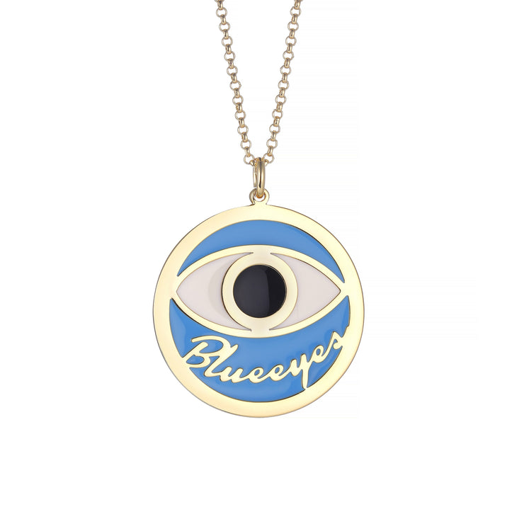 DUNALI™ Personalized Black Eye Necklace/Pendent in Gold