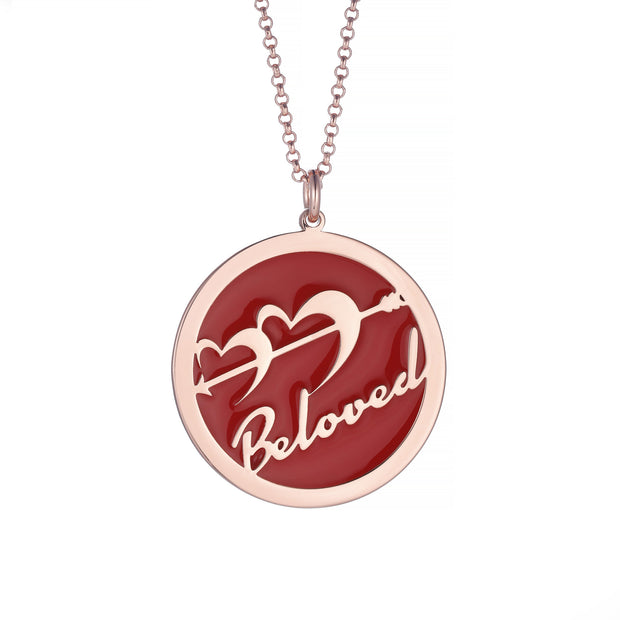 DUNALI™ Personalized Cupid Necklace/Pendent in Rose Gold
