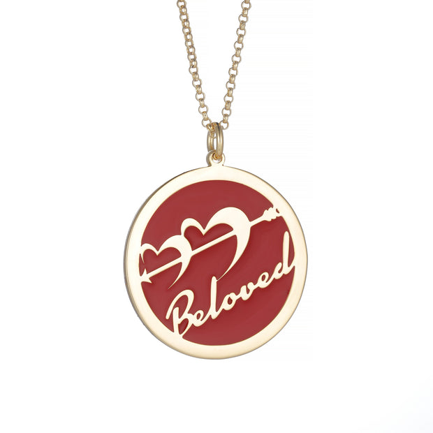 DUNALI™ Personalized Cupid Necklace/Pendent in Gold