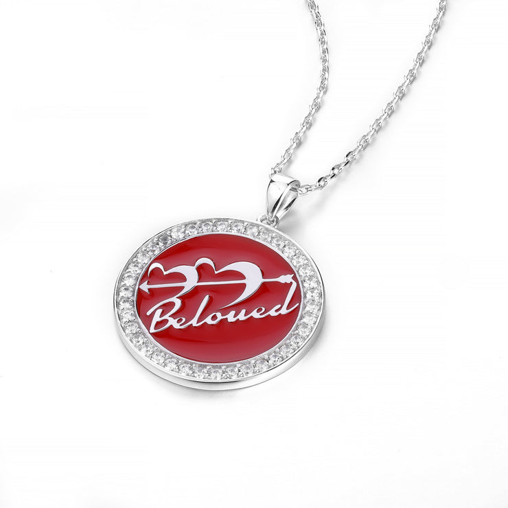 DUNALI™ Personalized Lovely Cupid Necklace/Pendent in Silver