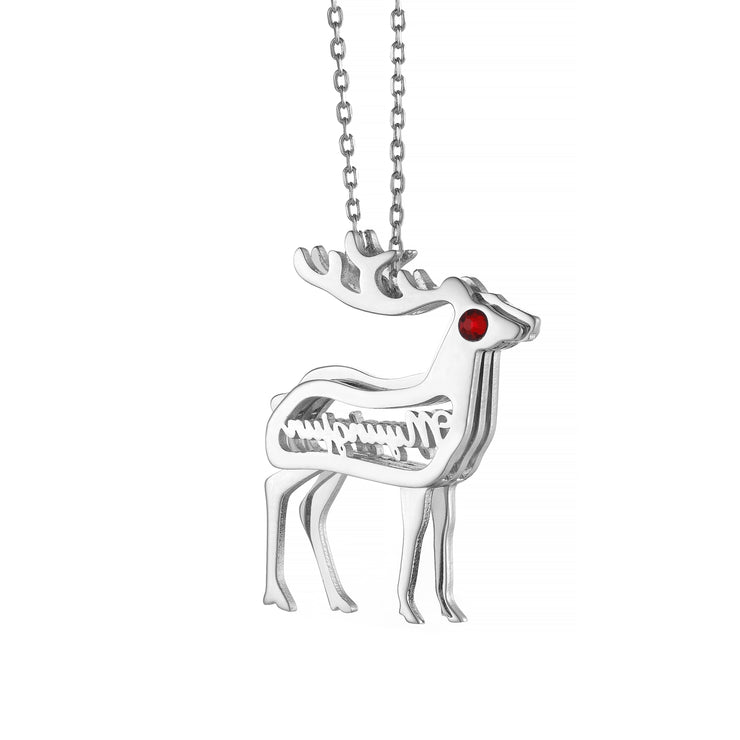 DUNALI™ Personalized Lovely Deer Silver Necklace/Pendent In Silver
