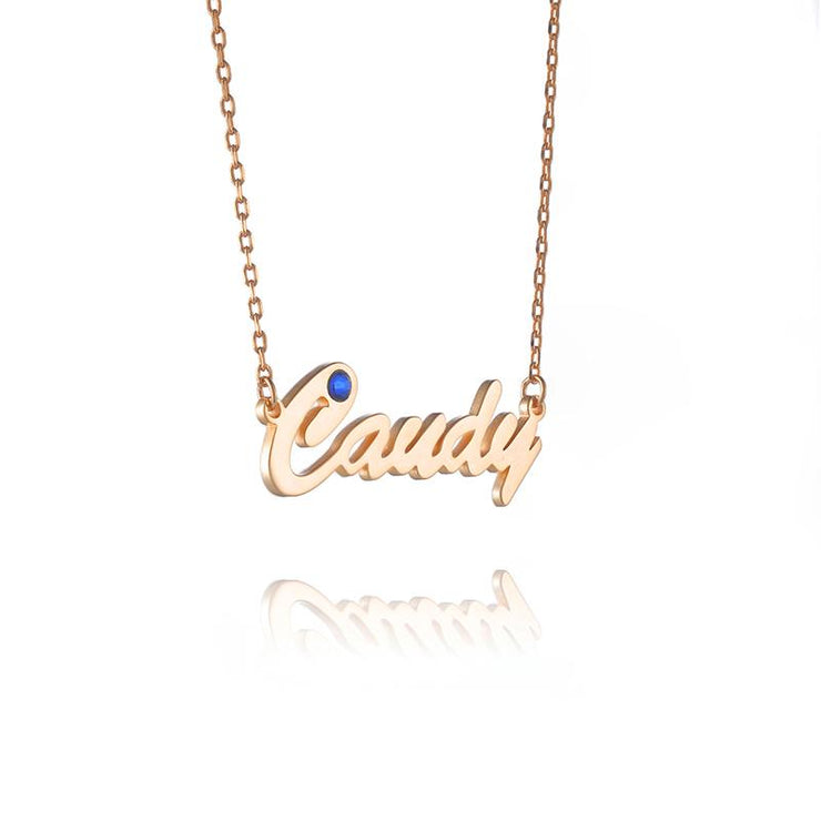 DUNALI™ Personalized Monogram Pendent Silver Necklace in Gold