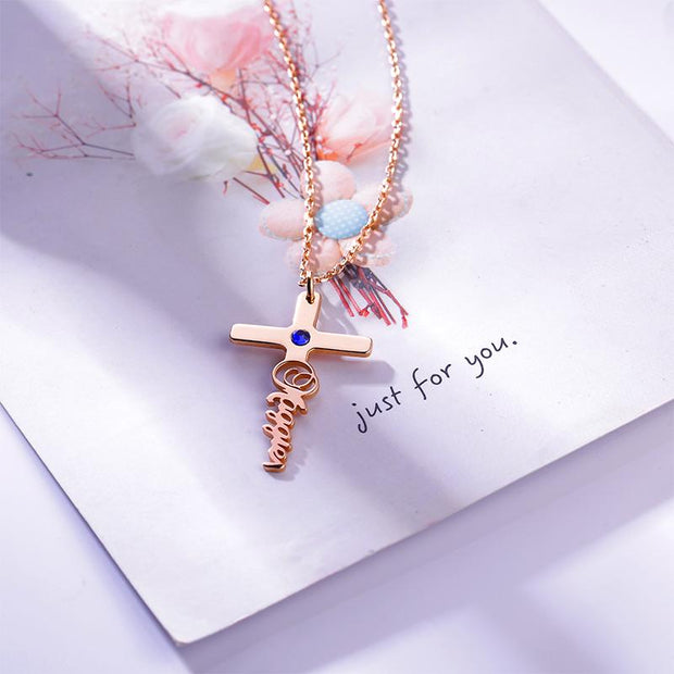 DUNALI™ Personalized Unique Cross Silver Necklace/Pendent