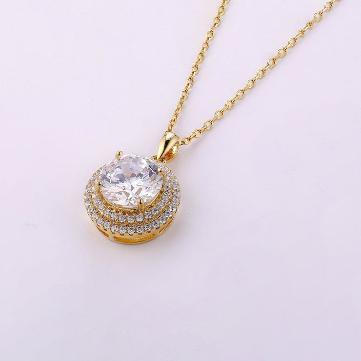 DUNALI™ UNIQUE BAKING CAKE STYLE GOLD PLATED SILVER NECKLACE-DUNALI