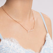 Teen's Name Necklace with Sterling Silver Gold Plating