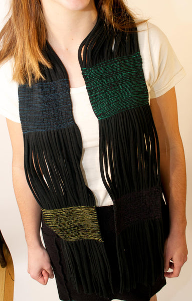 T-shirt scarf - black, from upcycled cotton | Upland Road