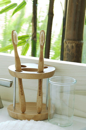 Brush with Bamboo toothbrushes. Sustainable environmentally friendly toothbrush