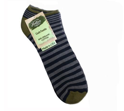 Organic Cotton Striped Cush Footie Socks