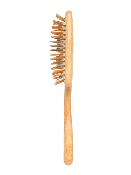 Brush with Bamboo zero-waste hair brush side view