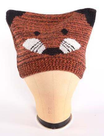 Fox knit hat from recycled cotton Upland Road