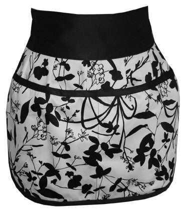 organic cotton half-apron eco-friendly apron in vines print