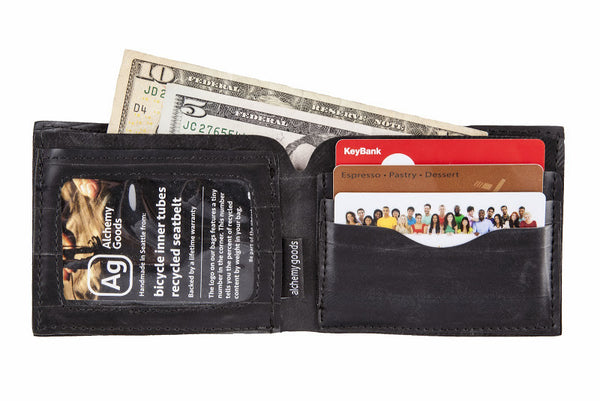 Jackson Wallet from upcycled bicycle innertubes