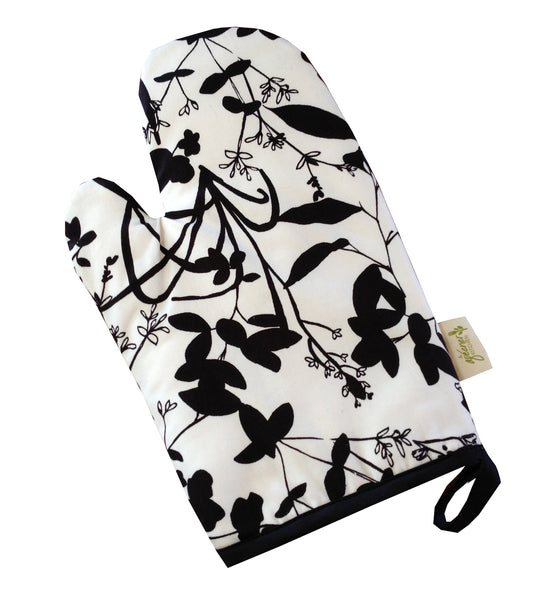 Black & White Print Organic Cotton Accessories, made in USA