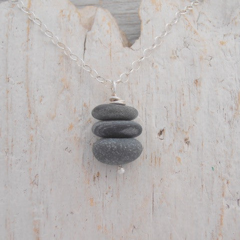 Cairn Sea-Pebble Necklaces - with 3 or 4 pebbles