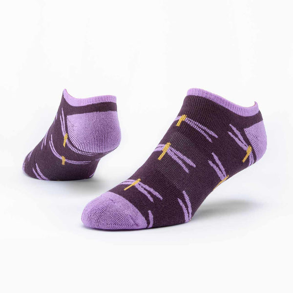 Purple Dragonfly Organic Cotton Footie Socks