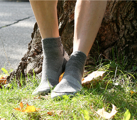 Organic Wool Urban Ankle Trail Sock, Upland Road, Maggie's Organics, Black