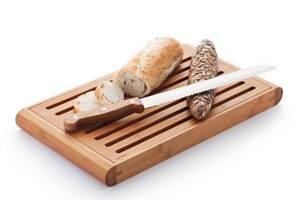 Bamboo Bread-Cutting Crumb Catcher Board - Upland Road