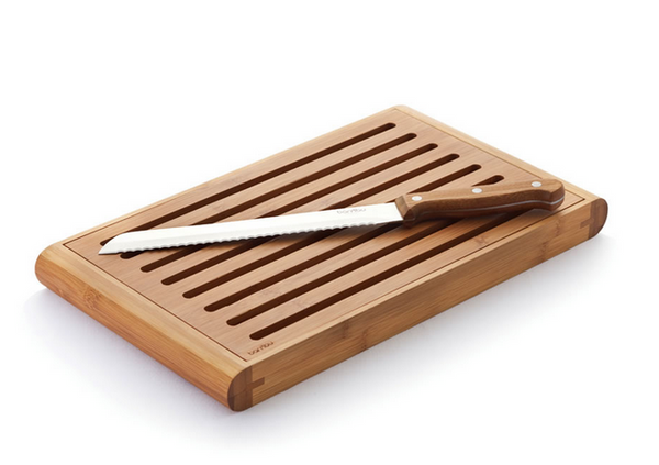 Sustainable Bamboo Bread-Cutting Crumb Catcher Board - Upland Road