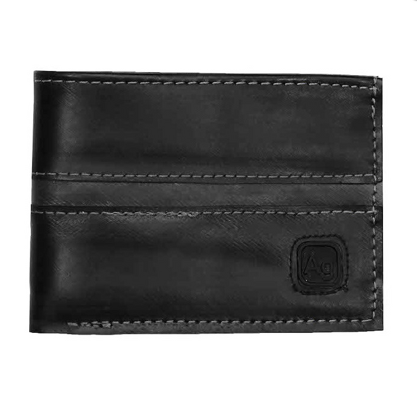 Franklin Wallet, silver thread, made from upcycled innertubes by Alchemy Goods | Upland Road