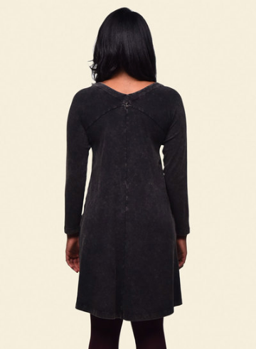 Organic Cotton Raglan Rib Dress