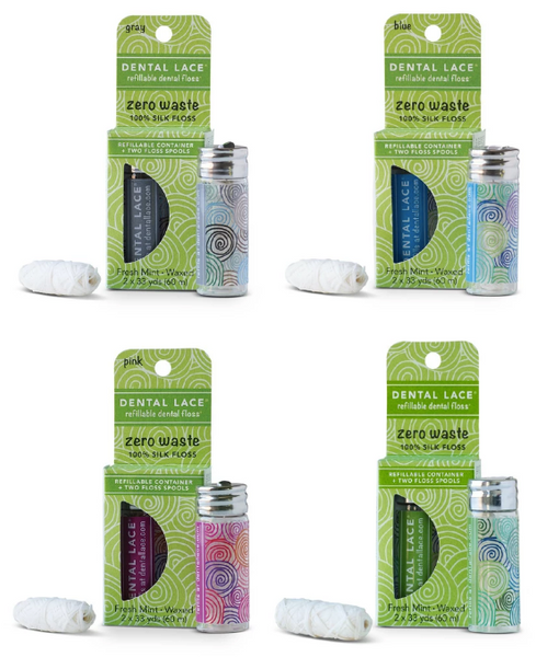 Refillable sustainable dental floss