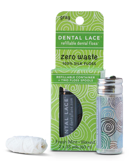 Refillable Sustainable silk dental floss
