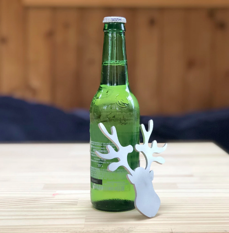 Reindeer Beer Bottle Opener, from recycled stainless steel