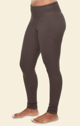Maggies Organic Cotton Fleece Leggings in Black or Mink