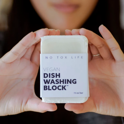 Dish Block® Zero Waste Dish Washing Bar - Free of Dyes and Fragrance