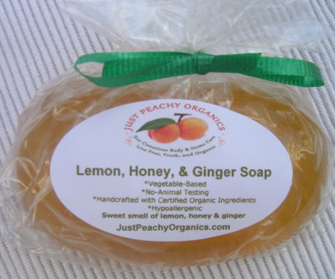 Lemon and Honey Ginger Soap - 100% Organic
