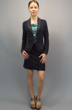 Organic cotton clothes for women. Terry Tab Jacket.