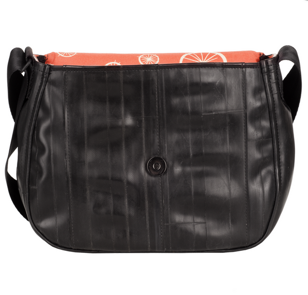 Laurelhurst Purse made from Recycled Inner Tubes & Organic Cotton