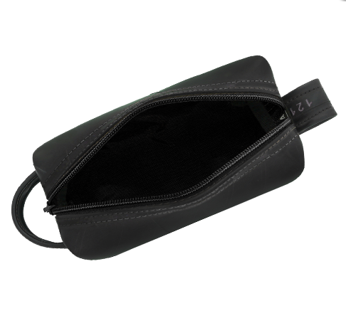 Elliot Toiletries Bag - From Upcycled Bicycle Innertubes - With Black or Blue Lining & Zipper
