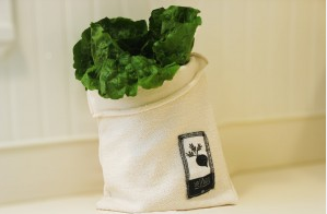 Vejibag-Undyed organic cotton vegetable storage bag for the refrigerator