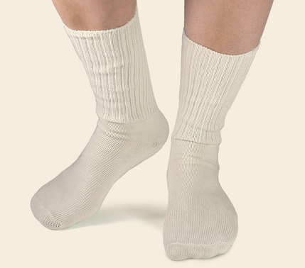 Sensitive Skin Organic Cotton Crew Socks - Natural or Black