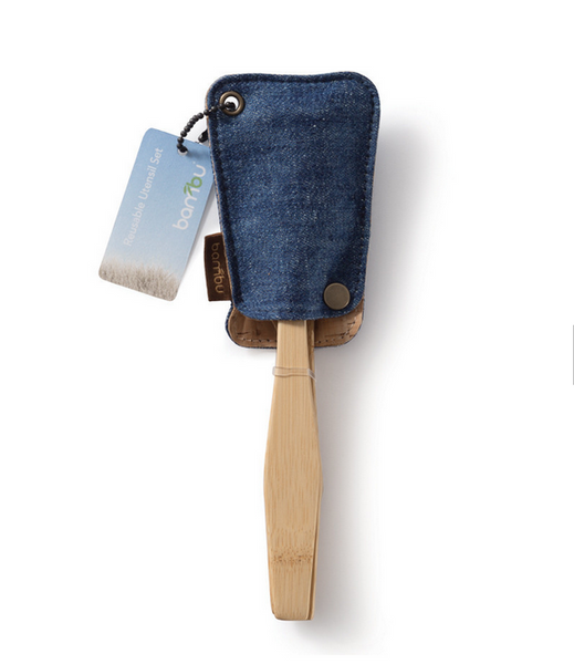 Reusable Bamboo Utensil Travel Set-Sustainable Hemp Cover