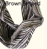 Brown Striped Headbands - Organic Cotton