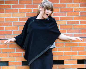 Organic Cotton Cape - Black, by Maggie's Organics