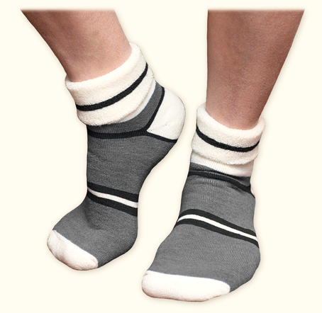 Organic Wool Snuggle Socks - Grey by Maggie's Organics