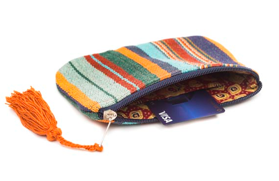 Boho Zip Cotton Change Purse