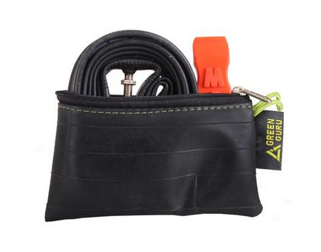 Small innertube zipper pouch
