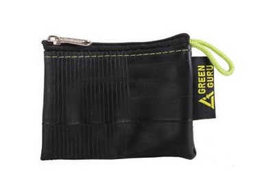 Mini Zipper Pouch - From Upcycled Bicycle Innertubes