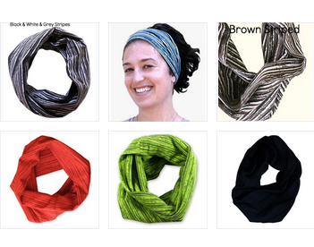 Wide Hairband/ Neck Gaiter, in Black - Organic Cotton