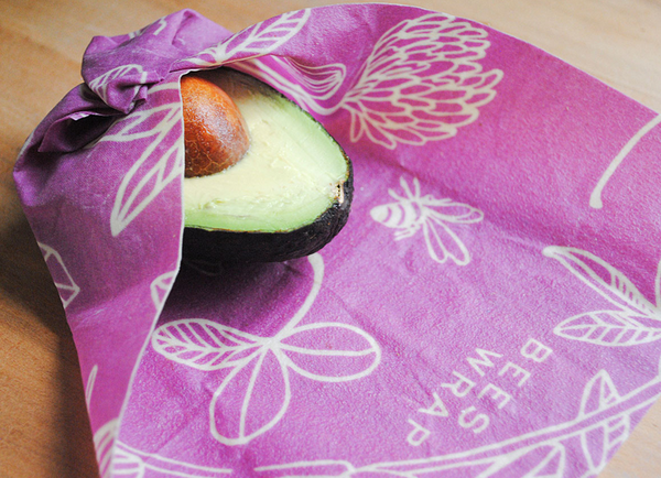 Bee's Wrap Assorted 3-Pack S, M, L Purple Clover Print - Sustainable Food Wrap