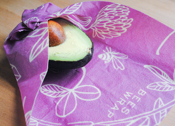 Bee's Wrap Assorted 3-Pack S, M, L in Purple Clover Print - Sustainable Food Wrap