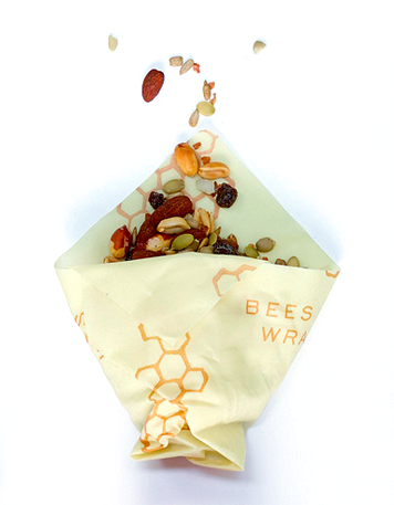 Bee's Wrap Reusable Food Storage Wraps | 3-Pack S, M, L - Honeycomb Print
