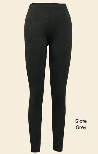 Organic Cotton Ankle Leggings Slate Grey by Maggie's Organics