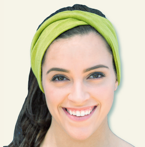 Organic Cotton Twist Hairband in Green or Violet, by Maggie's Organics